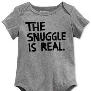 """Unisex """"the snuggle is real"""" baby onesie"""